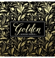 Luxury seamless background with gold frame vector image vector image