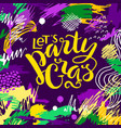 mardi gras lettering card vector image