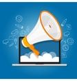 megaphone announce speaker shout online public