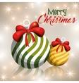 merry christmas ball decoration icon vector image