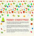 Merry christmas congratulation decorative card