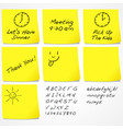 messages on sticky notes vector image vector image