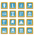 museum icons azure vector image vector image