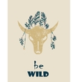 Native Indian-American tribal decorative bull vector image vector image