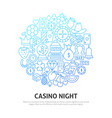 night casino circle concept vector image vector image