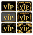 on the design of vip business cards gold with vector image