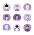 people female face icon vector image