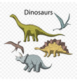 prehistoric dino set vector image