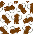 prehistorical animal mammoth pattern on white vector image vector image
