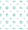 prohibition icons pattern seamless white vector image vector image