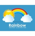rainbown design vector image vector image