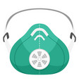 respirator green flat icon device protecting vector image vector image