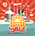Retro Summer Sale of Abstract Town - City wi vector image vector image