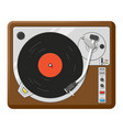 retro vinyl player top view realistic vector image