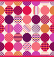 seamless circle modern textured hipster pattern vector image vector image