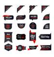 set black friday badges holiday shopping concept vector image vector image