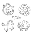 set chinese zodiac signs vector image vector image