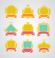 Set of flat badges and ribbons vector image