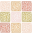 Set of Maze for kids vector image