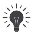 silhouette light bulb vector image vector image
