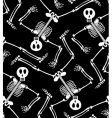 skeleton pattern vector image vector image