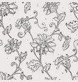 Sketchy drawing floral seamless pattern