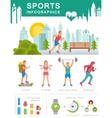 Sports Infographics vector image vector image