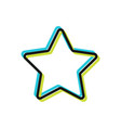 star flat icon internet and design vector image vector image