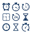 time and clock line icons alarm and timer vector image vector image