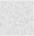 topographic contour lines map pattern black vector image vector image
