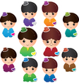 Various Boy characters vector image vector image