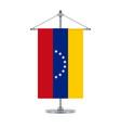 venezuelan flag on the metallic cross pole vector image vector image