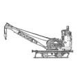 vintage steam crane vector image vector image