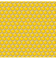 wallpaper yellow glossy pattern hexagon vector image vector image