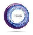 watercolor color circle texture ink round stroke vector image vector image