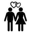 wedding married couple vector image vector image