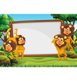 White board and lions in the forest vector image vector image
