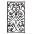 wrought-iron oblong panel is german renaissance vector image vector image