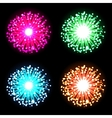 Festive firework bursting in glowing sparkles vector image