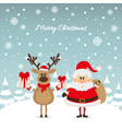 Santa Claus and reindeer with gifts The Christmas vector image