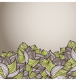 abstract background of petal and wave vector image vector image