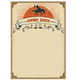 American western background for textCowboy rodeo vector image vector image
