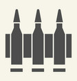 ammunition solid icon bullets vector image vector image