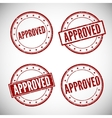 Approved stamp vector image vector image