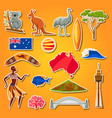 australia icons set australian traditional