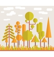 Autumn Tree Forest Flat vector image vector image