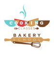 bakery school or cooking classes icon vector image