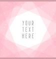 beautiful pink abstract card template vector image vector image
