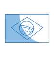 brazil national flag insignia nation image vector image