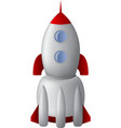 Cartoon stell rocket vector image